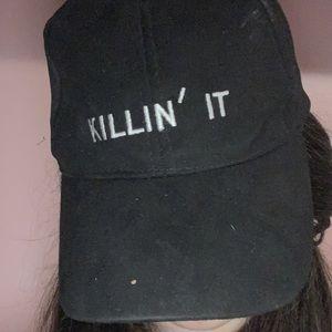 Killin' it black velvet hat